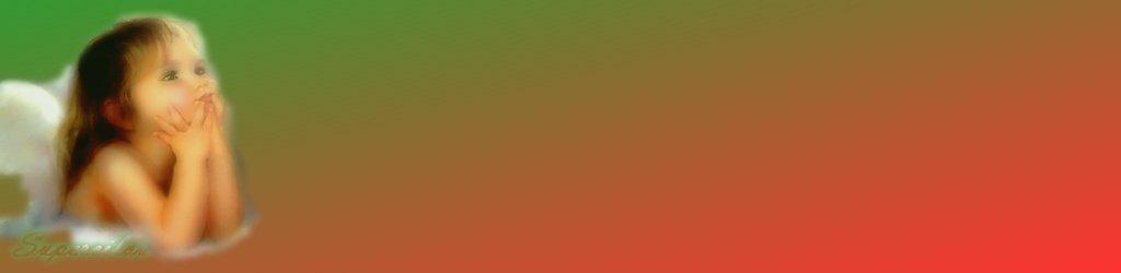 ange rouge et vert