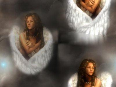 motif pour fond ange
