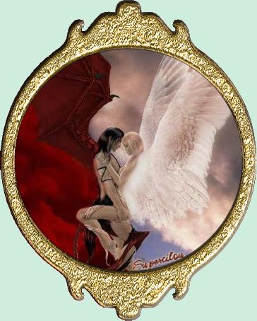 Médaillon ange et démon