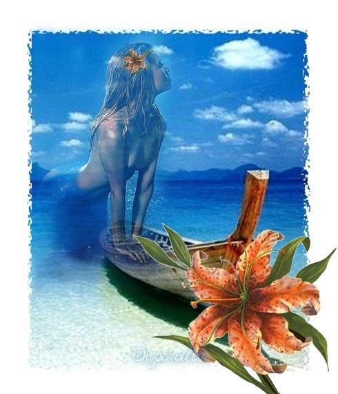 Sirène à la plage