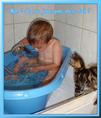 Renzo dans le bain