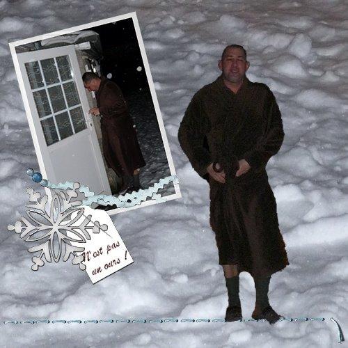 cédric dans la neige... ours ?....