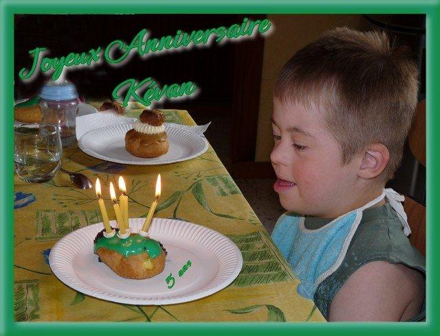 anniversaire de Kévan